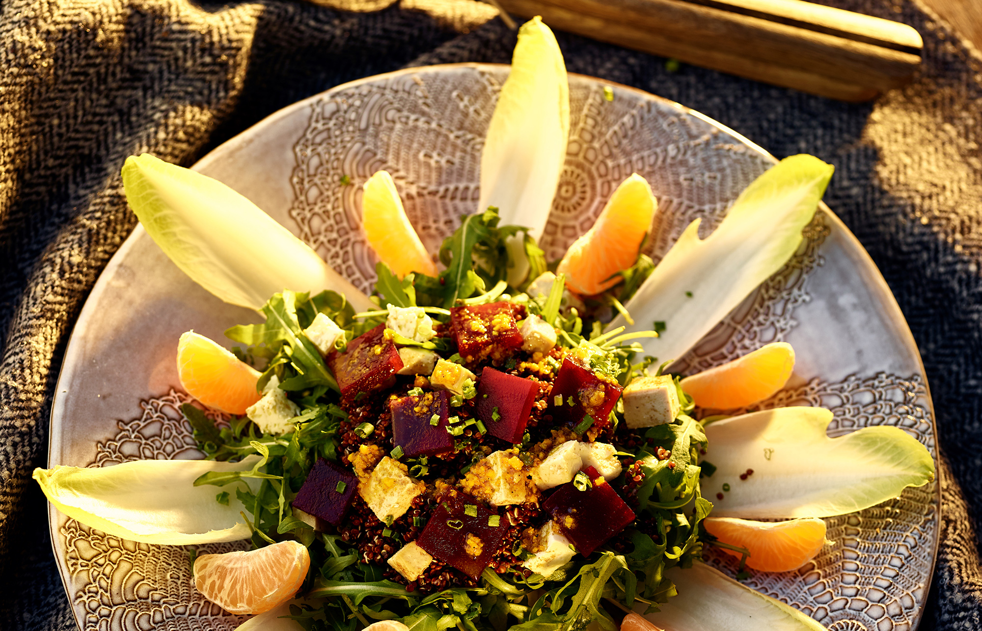 Hot Beet Salad, Tofu and Tangerine - Recipe BCook